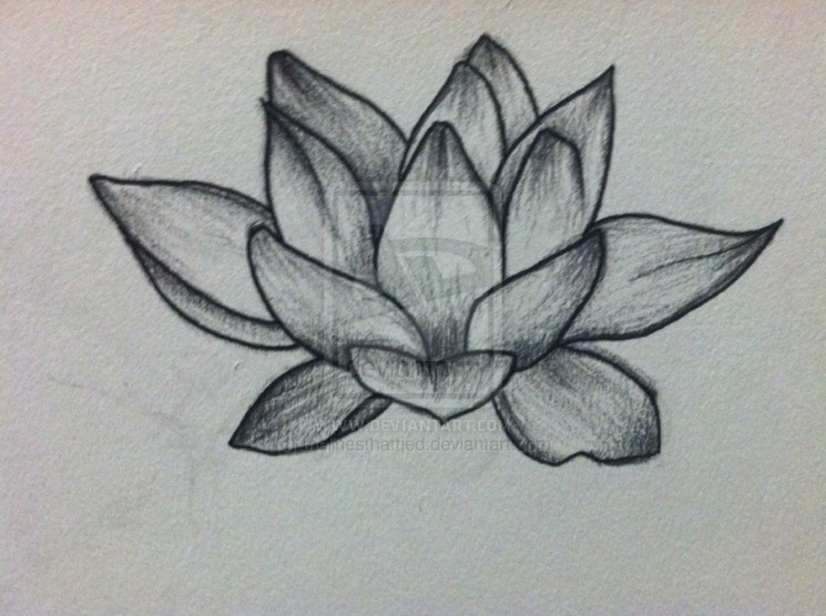 Joker Lotus Tattoo Design
