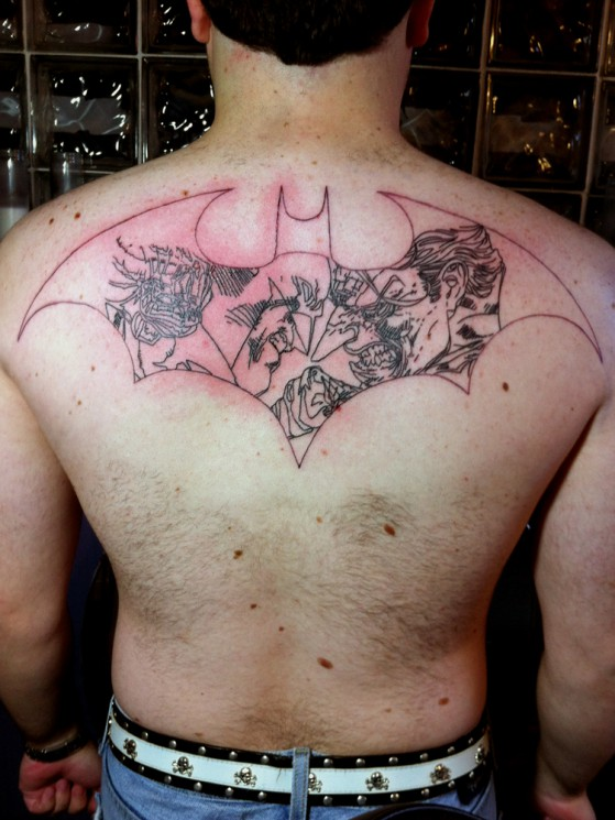 Joker Tattoo On Back Body