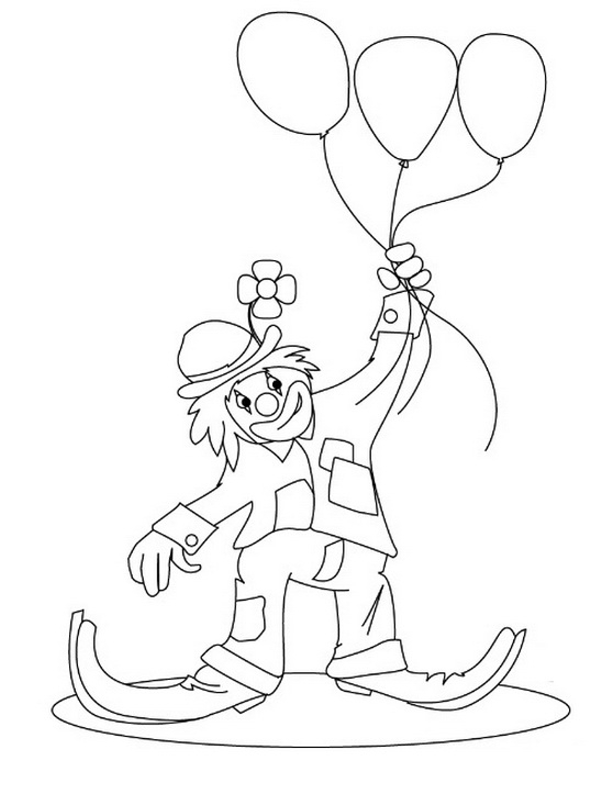 Joker With Balloons Tattoo Design