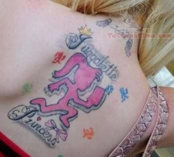 Juggalo Family Tattoo On Back