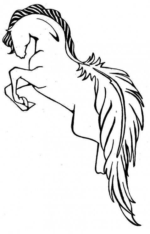 Jumping Horse Tattoo Sample