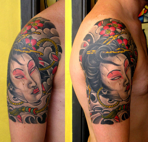 kabuki mask tattoo drawing in 2017 real photo pictures images and sketches tattoo collections. Black Bedroom Furniture Sets. Home Design Ideas