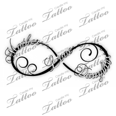 Kids Name Infinity Symbol Tattoo Design In 2017 Real Photo