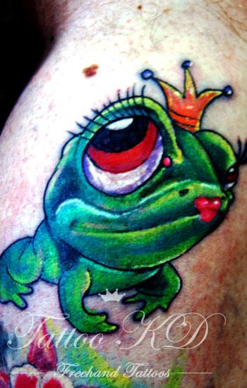 King Frog Tattoo Image