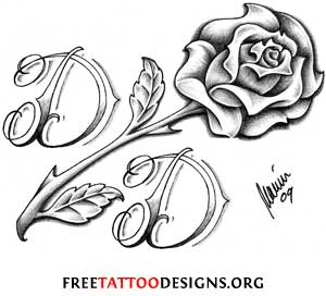 King Panther And Roses Outline Tattoo Designs