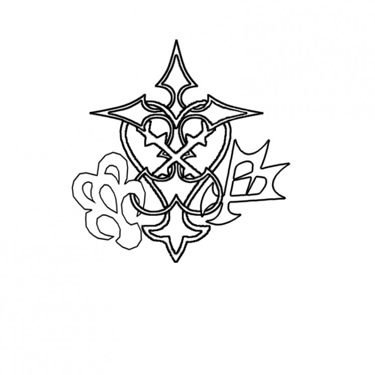 Kingdom Hearts Stained Glass Tattoo Design