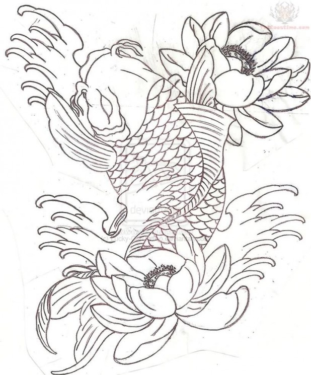 Koi Fish Sleeve Tattoo Designs