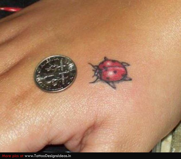 Ladybug Tattoo On Hand