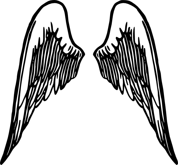 Large Angel Wings Tattoo Design