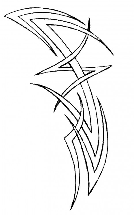Large Tribal Tattoo For Women