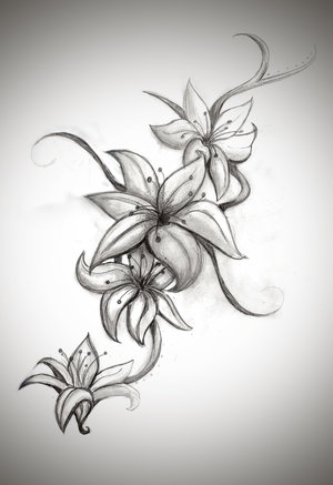 Latest Flowers And Tiger Tattoo Designs