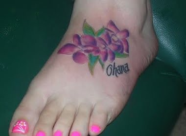 Latest Orchid Tattoos For Women