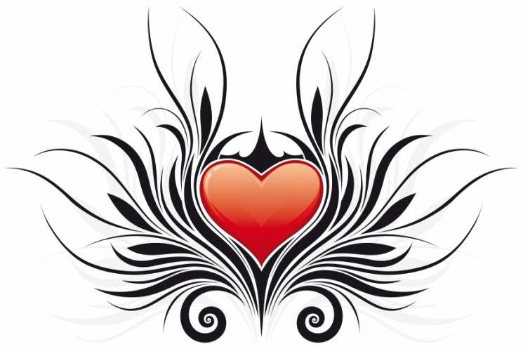Latest Tribal Heart Tattoo Design
