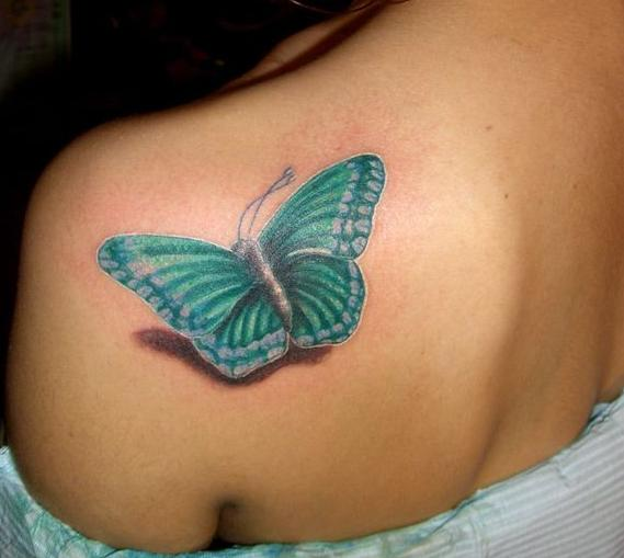 Latest Watercolor Butterfly Tattoo
