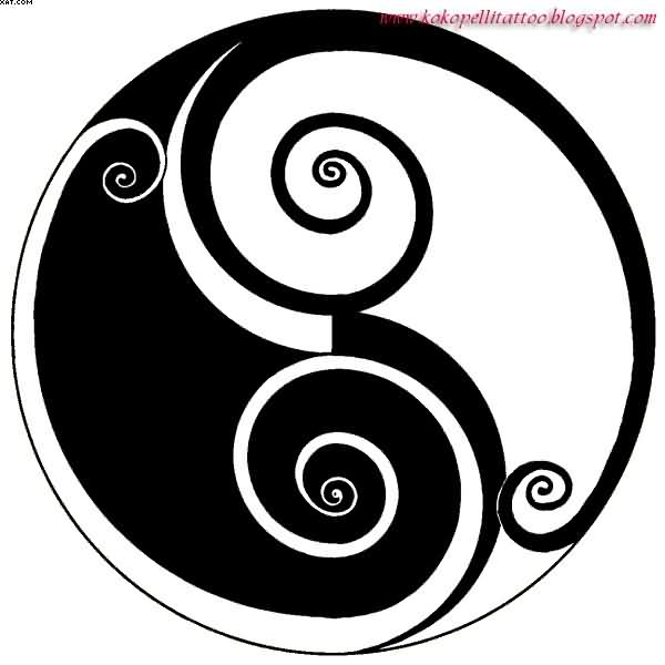 Latest Yin Yang Symbol Tattoo Design
