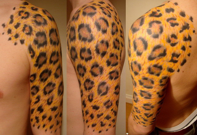 Leopard Print Lily Tattoo Design