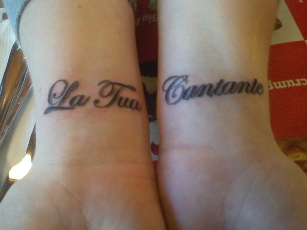 Lettering Tattoo Designs On Wrist