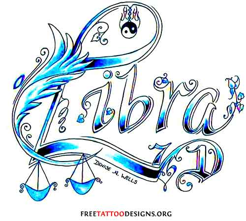 Libra Tattoo For Girls