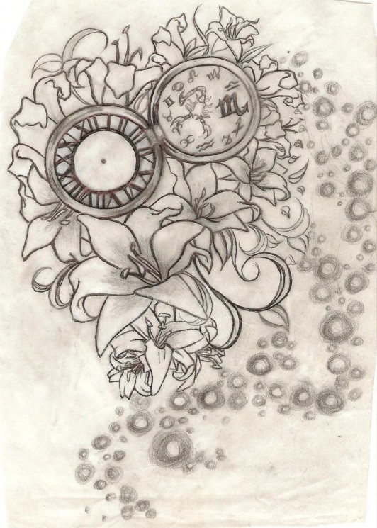 Lily Tattoo Design For Men