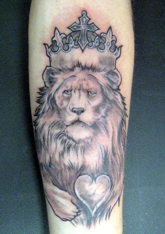 Lion King With A Broken Heart Tattoo On Arm In 2017 Real Photo