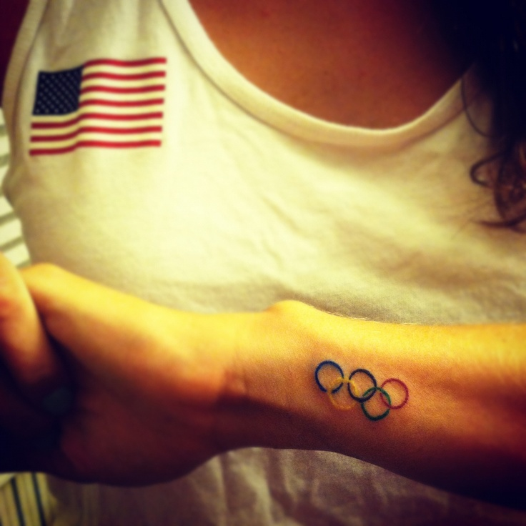 Little Colorful Olympic Rings Tattoo