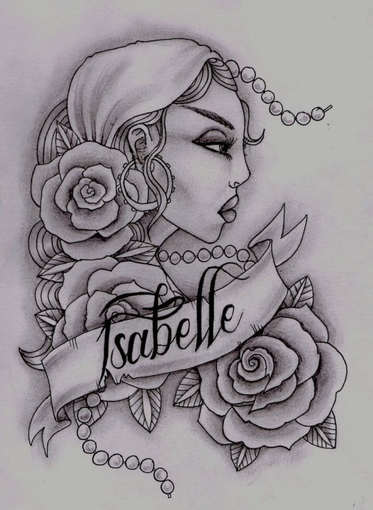 Live Free Gypsy Tattoo Design
