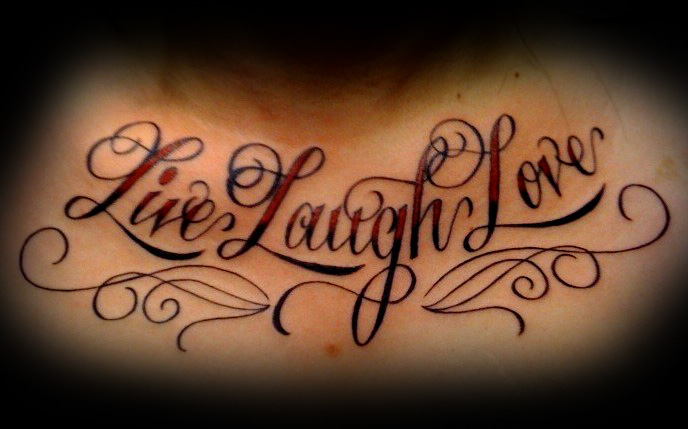 Live Love Laugh Tattoo For Foot