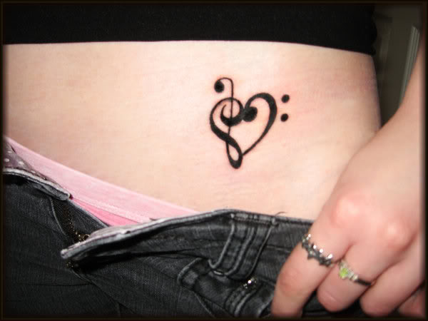 Lotus And Music Note Tattoo Designs