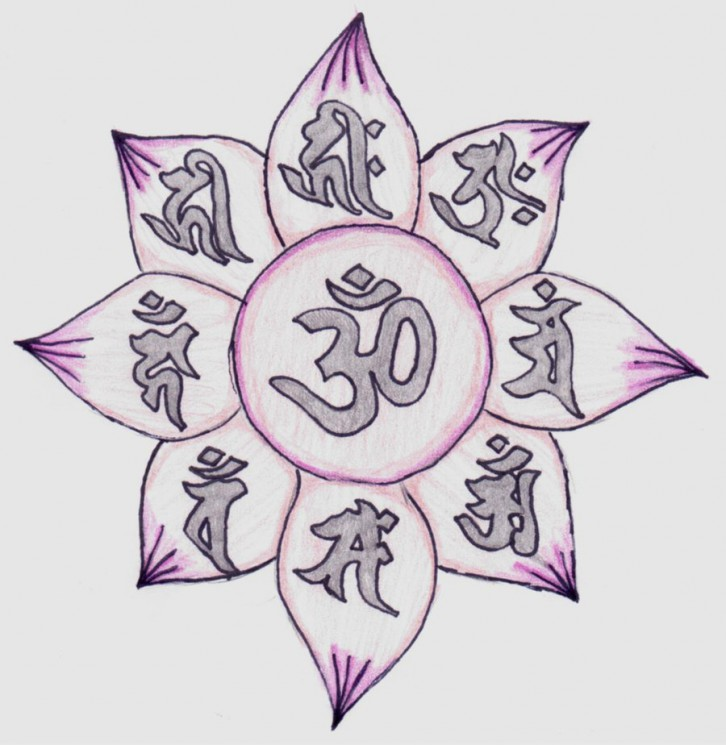 Lotus Flower And Waves Tattoo Design