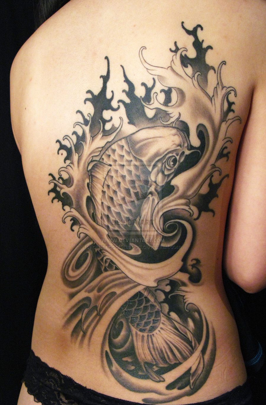 Lotus flower n koi fish tattoo on back of shoulder in 2017 real lotus flower n koi fish tattoo on back of shoulder in 2017 real photo pictures images and sketches tattoo collections izmirmasajfo Images
