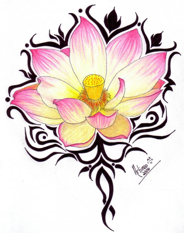 Lotus Love Tattoo Design