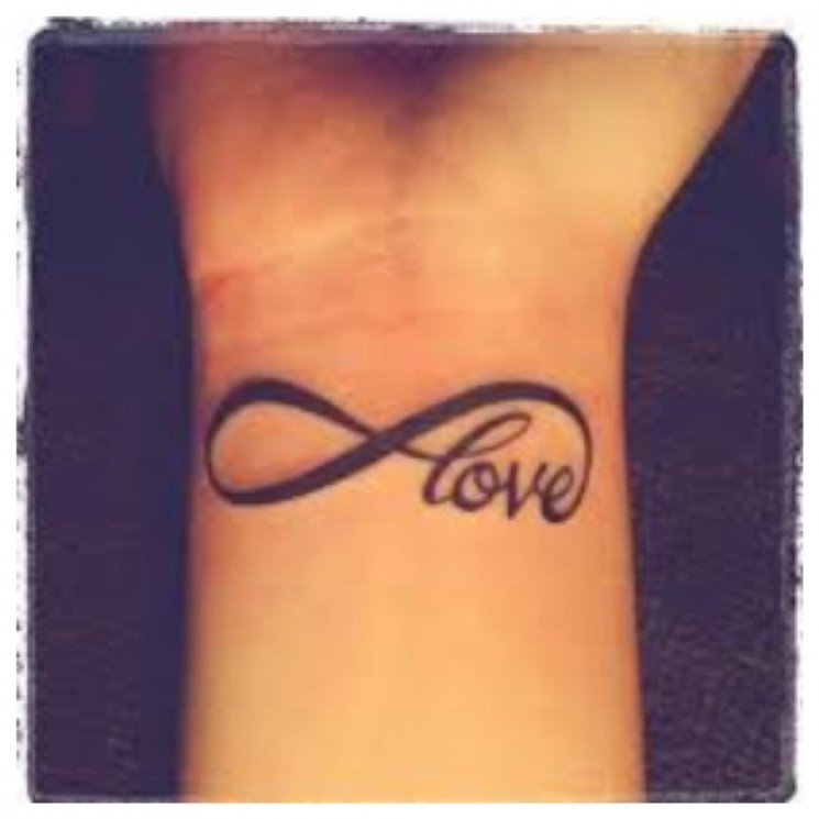 Love Infinity Tattoo Designs