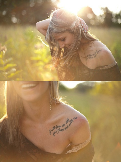 Love Is Enough Collarbone Tattoo