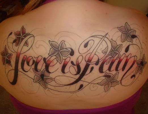 Love Is Pain Tattoo Design