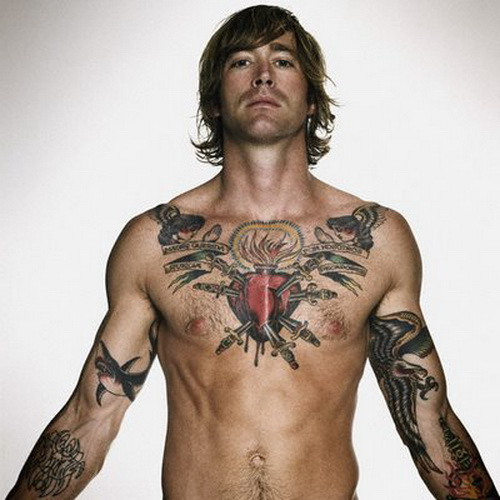 Love Tattoo On Chest