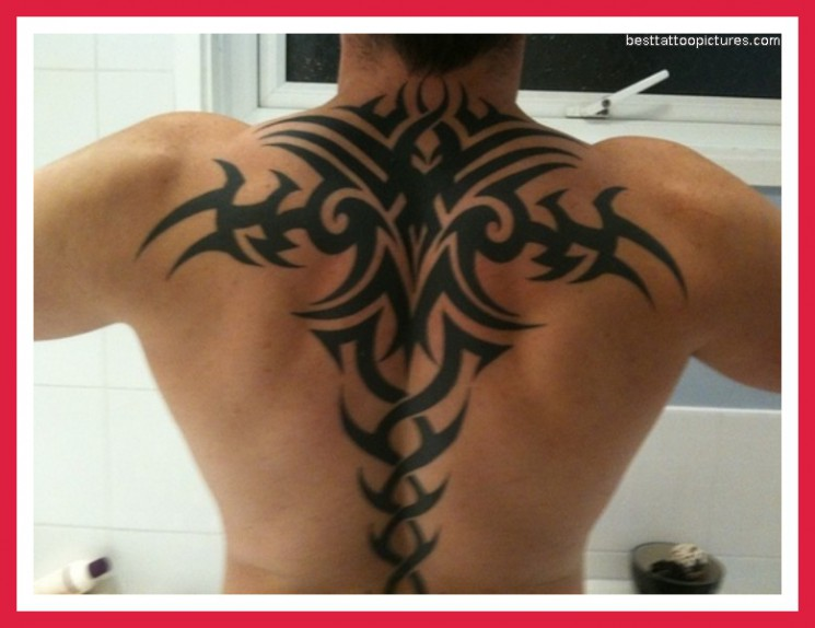 Lovely Back Shoulder Tattoo Ever