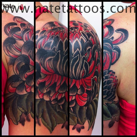 Lovely Chrysanthemum Tattoo Picture