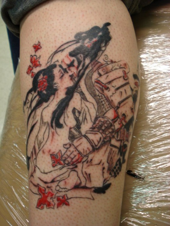Lovely Geisha Tattoo Picture