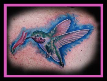 Lovely Humming Bird Tattoo Image