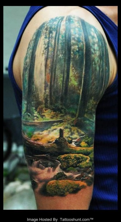 Lovely Nature Half Sleeve Tattoos