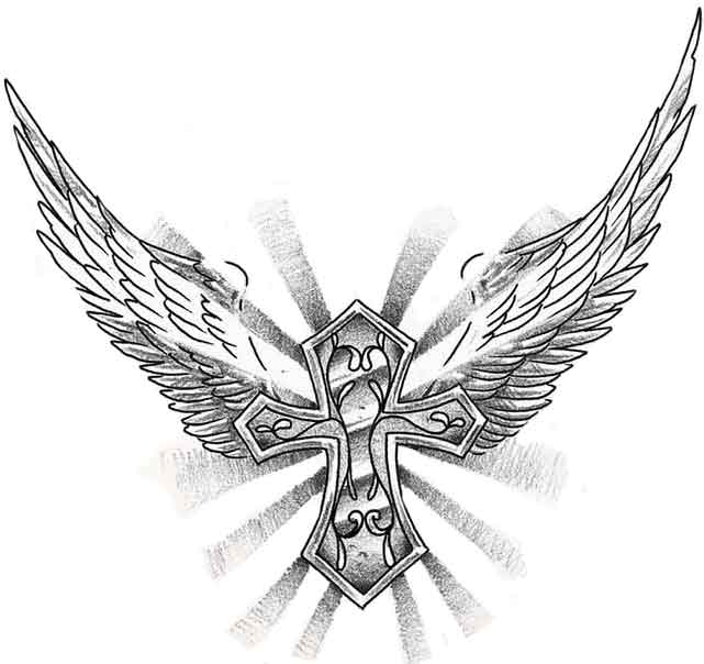 Lower Back Angel Wings Tattoo