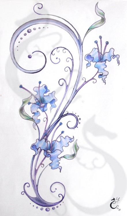 Lower Back Daisy Flowers Tattoo Design