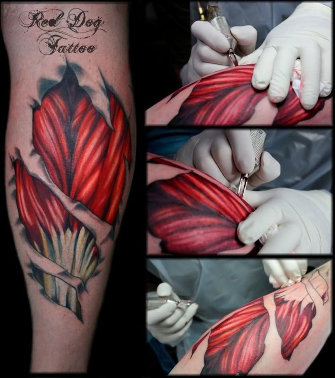 Making Muscles Tissue Tattoos