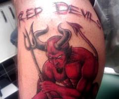 Manchester United Red Devil Tattoo Photo 1 2017 Real Photo Pictures Images And Sketches Tattoo Collections