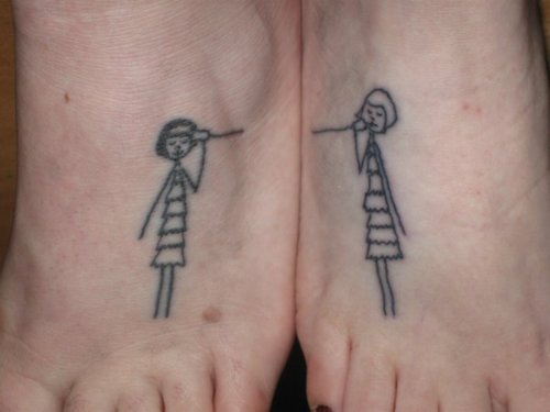 Matching Cute Triangle Tattoos Of Best Friends Photo - 1 2017: Real ...