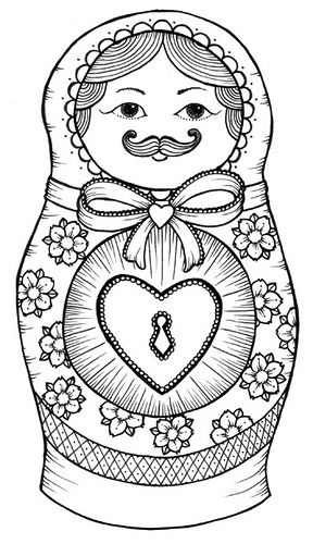 Matryoshka Doll Tattoo Sample
