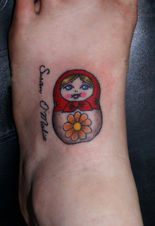 Charming Matryoshka Tattoo On Arm