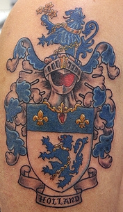 Maxfield Coat Of Arms Family Crest Tattoo