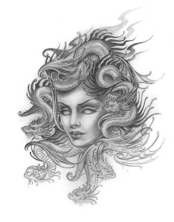 Medusa Head Tattoo For Hand