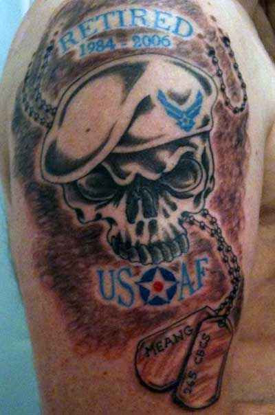 Memorable Army Skull Tattoo Design